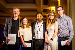 2016 Winners: Bastiaan Bijleveld, Courtney Worrell, Megan Jackson and David O'Driscoll