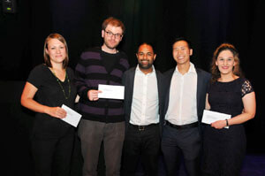2017 Winners: Siri Ranlund, Erdem Pulcu, Shaun Kit Lung Quah and Nazanin Doostdar