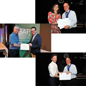 2018 Winners: Robert McCutcheon, Rebecca Lawson and Phil Corlett