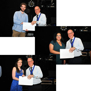 2018 Winners: Ciaran Fitzpatrick, Chandni Hindocha and Kristi Sawyer