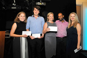 2018 Winners: Melissa Hobbs, Ben Netherwood, Ayesha Kotecha (not at dinner) and Lucy Farrow