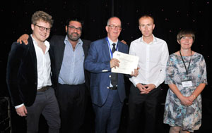 2019 Winners: Toby Pillinger, Sameer Jauhar, Tom Freeman and Maddy King
